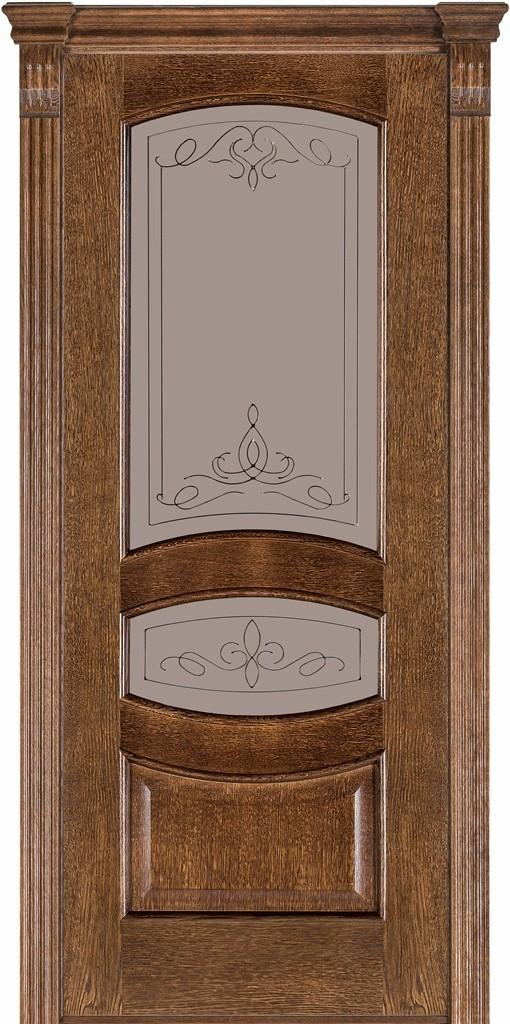 Двері міжкімнатні Terminus Модель 50 Дуб браун, скло 13, 70см