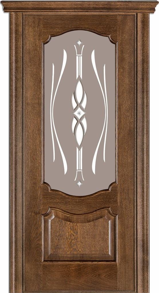 Двері міжкімнатні Terminus Модель 41 Дуб браун, скло 09, 80см