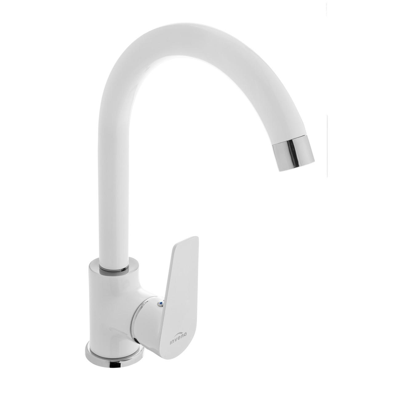 Змішувач для кухні Invena Dokos BZ-19-002 білий