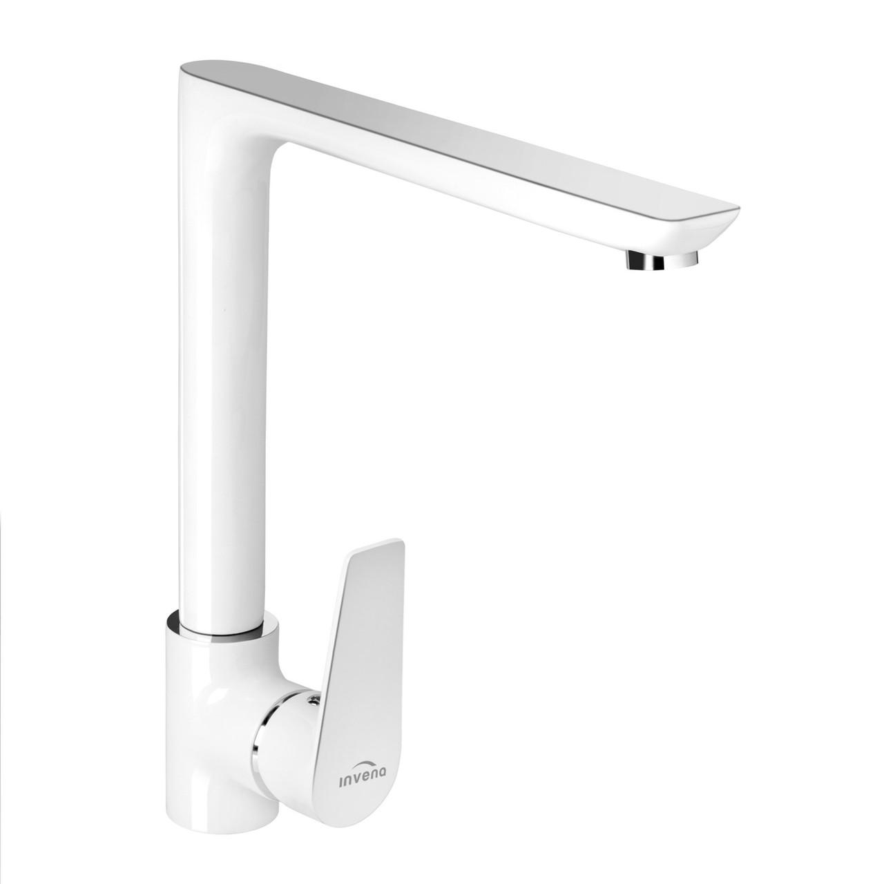 Змішувач для кухні Invena Dokos BZ-19-L02 білий