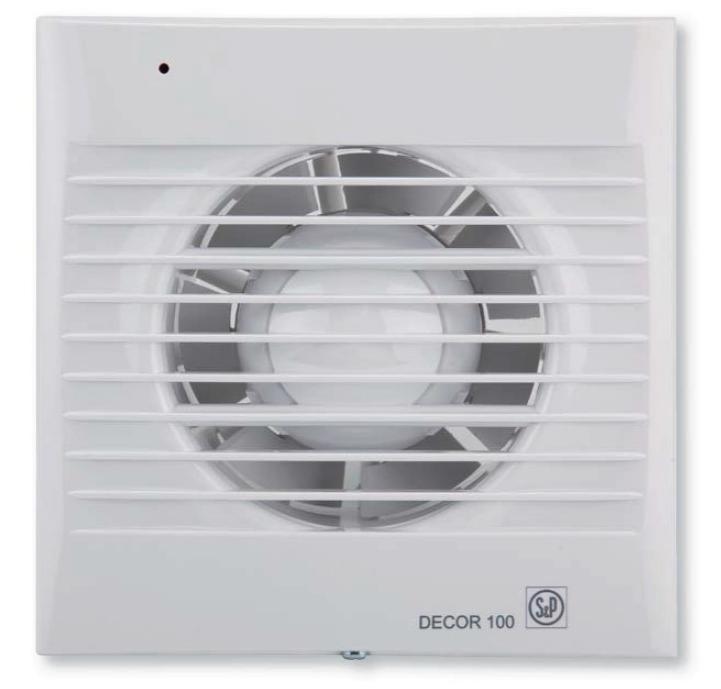 Вытяжной вентилятор Soler & Palau DECOR 100 CR с таймером и клапаном
