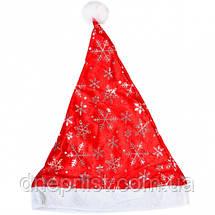 Шапка Деда Мороза с блестками, велюр, фото 3