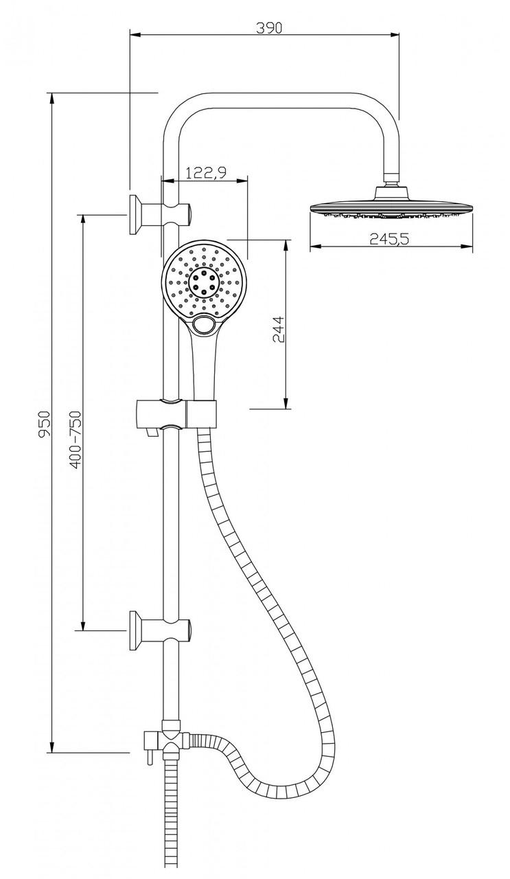 Душова система Invena Rotonda AU-27-001 кругла