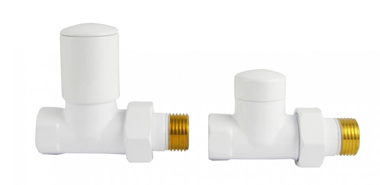 Комплект радіаторних кранів Varioterm Swing, білий