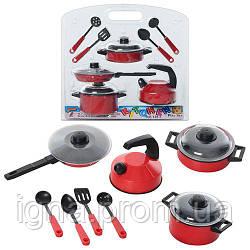 Посуда 126 (72шт) кастрюли 2шт, чайник, сковородка, кухонный набор, в слюде, 26,5-25-9см