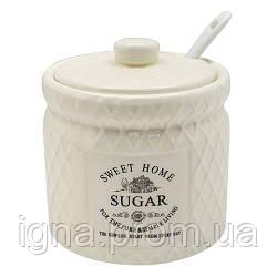 "Сахарница с ложкой ""Кантри"" 350мл 9.5*9.5*11см MC2825 (48шт)"