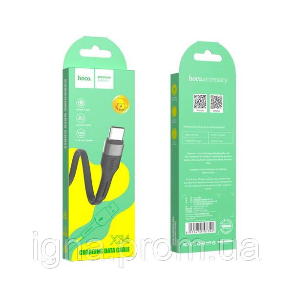 USB-кабель HOCO X34c Type-c - 1м, 3А, Black