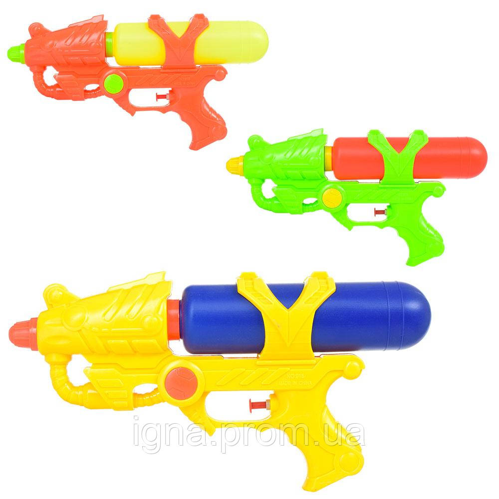 Водяной пистолет M 5633 (120шт) размер средний,31см,3цвета, в кульке, 31-15-6см