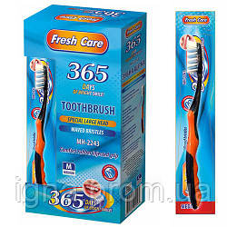 """Зубна щітка """"Fresh care"""" 12шт/уп 18.5 см МН-2243 (24уп)"""