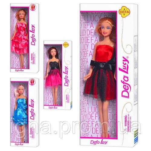 Кукла DEFA 8136-8138 (96шт) 4 вида, в кор-ке, 33-13-5см