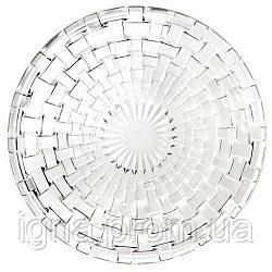 Блюдо кругле скло 25.4 см R83054 (36шт)