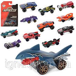 Машинка AS-2694 (144шт) АвтоСвіт, металл, 7см, меняет цвет, 12видов, на листе, 11-16,5-3,5см