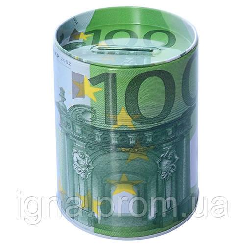 "Копилка-банка железная ""100 евро"" 7.5*10.5см N01788 (100шт)"