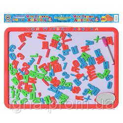 JT Досточка 0187 UK (36шт) магнитная азбука бол, 2в1: русский/украинский алфавит, в кульке, 44-32см