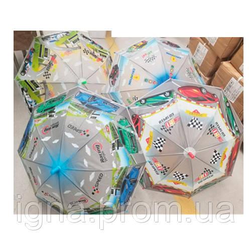 Зонтик детский MK 4478 (60шт) длина66,трость61,диам83см,спица48см, свисток,клеенка,4вида, в кульке
