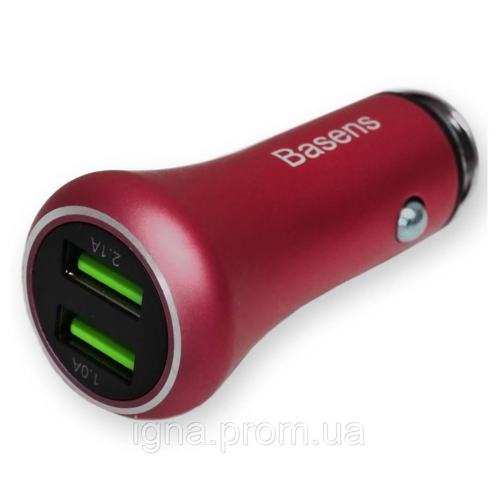 Автомобильная зарядка Baseus Car Charger (2 USB) 5V (2A) Red