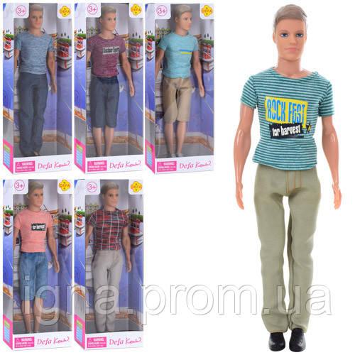 Кукла DEFA 8372 (48шт) Кен, 31см, 6видов, в кор-ке, 12,5-32,5-5,5см
