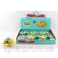 Заводная игрушка 9053A (108шт) черпаха15см,муз,св,ездит,подвиж.детали,на бат,6шт в дисплее,38-28-9см