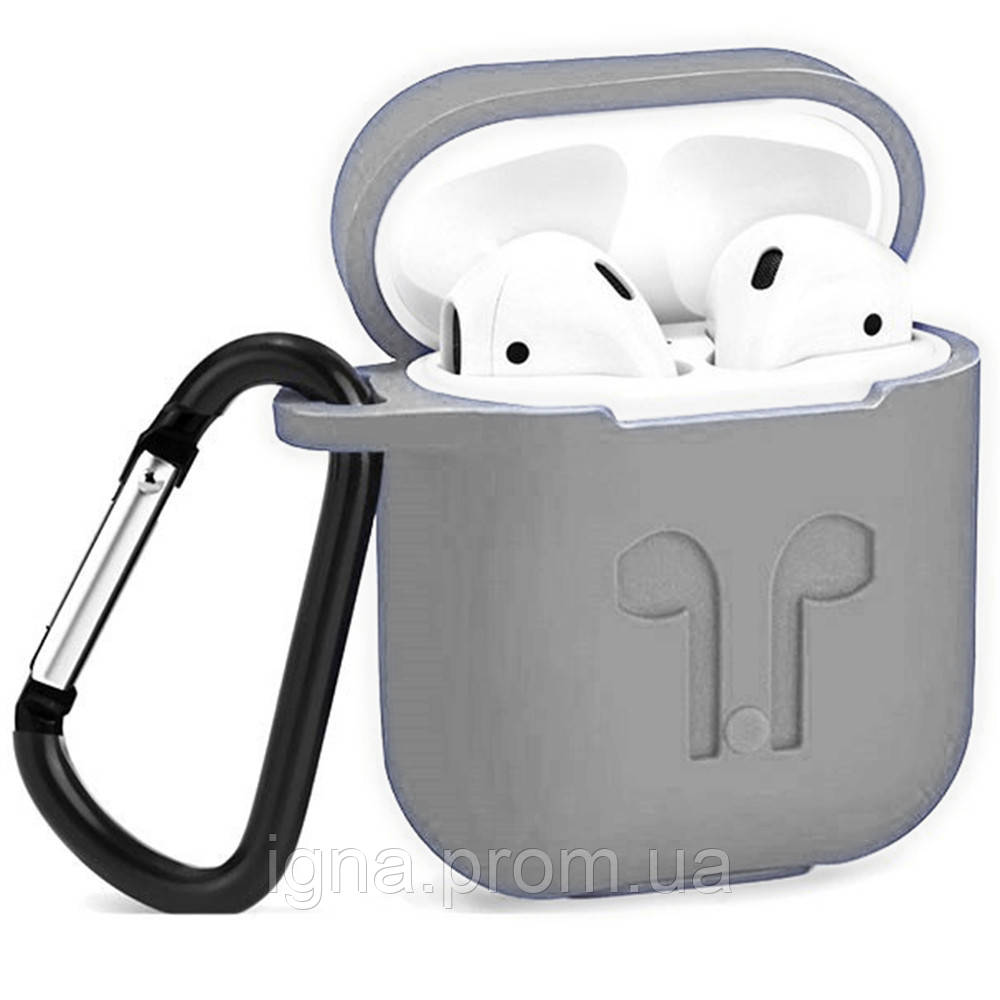 Silicone Case For AirPods .(Gray)