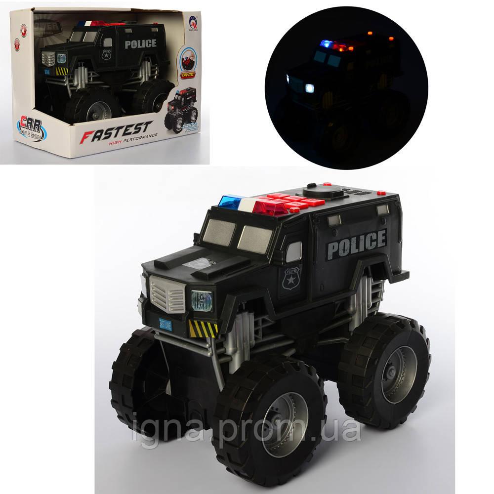 Джип MQ815A (16шт) полиция, 23см, звук, свет, ездит, на бат-ке, в кор-ке, 30-22,5-17см