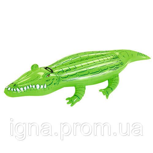 BW Плотик 41010 (12шт) крокодил, 168-89см,  с ручкой, в кор-ке,