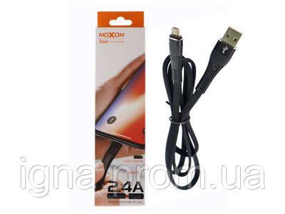 USB-кабель MOXOM CC-61m micro-usb - 1м, 2,4А, Black