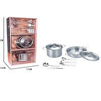 Посуда YH2018-2C кастрюли, кухонный, набор, металл, в кор-ке, 18-38-10см