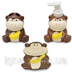 """Набір до ванної """"Monkey"""" 3 пр/наб 22*20*7.5 см R30156"""