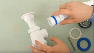 Как собрать сифон для ванны своими руками