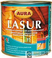 ТМ AURA Lasur - декоративный деревозащитный состав с УФ  фильтром (ТМ Аура Лазурь), 9 л.
