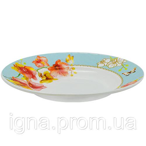 "Тарелка суповая стеклокерамика 9"" (22.9см) 6шт/наб ""Орхидея голд"" MS-2396-7976 (6наб)"