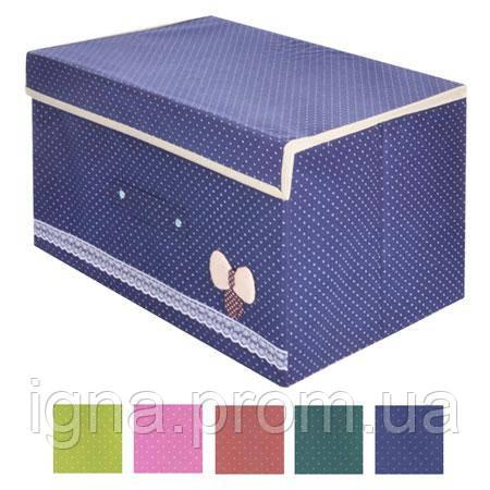 """Ящик для зберігання речей """"Бантик"""" 44*34*24 см R15520 (30шт)"""