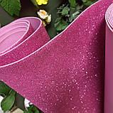 Фоамиран глиттерный розовый 2 мм рулонный, фото 2