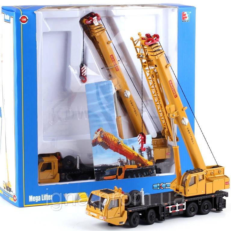 Стройтехника 625011 (18шт) металл, кран20см,1:55, рез.колеса, подвижн.дет,в кор-ке, 25,5-26-7,5см