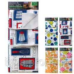 Набір килимок для мокрої посуду/рушники 3пр/наб 38*50/40*48/30*30см R85933 (120наб)