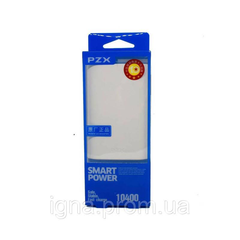 Power Bank PZX-C146 10400MA White 1USB фонарик, шнур micro-USB в комплекте