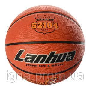 Мяч баскетбольный S 2104 (20шт) размер5,рисунок-печать,460-500г,в кульке,