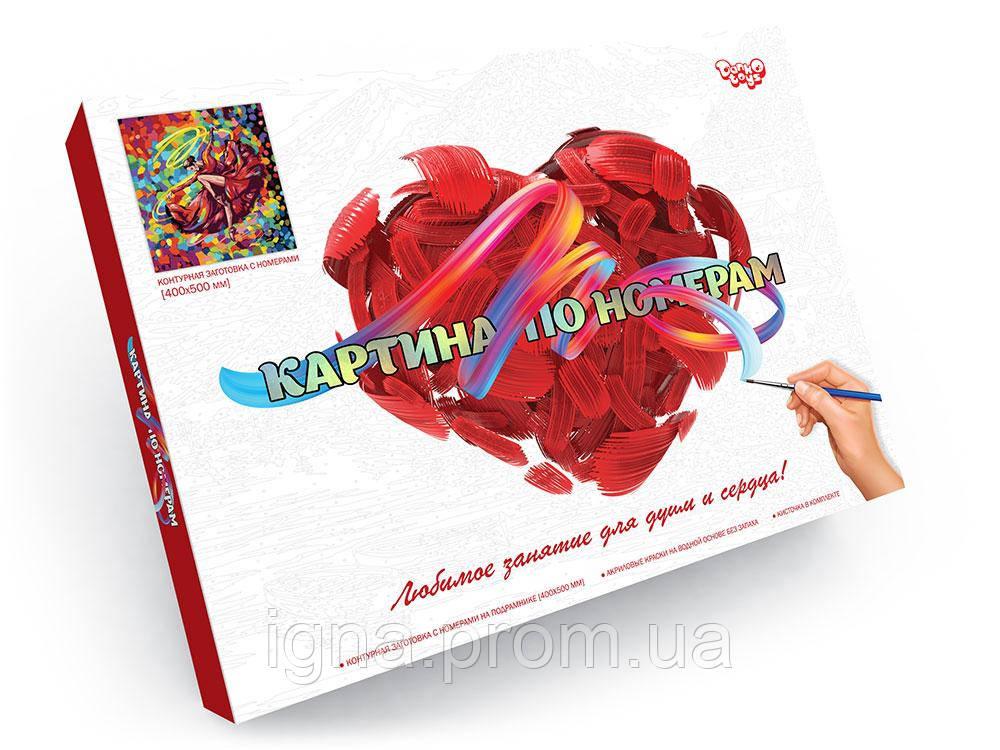 """Креативна творчість """"Картина за номерами на полотні"""" 40см*50см рос №5 Танцівниця в червоному"""