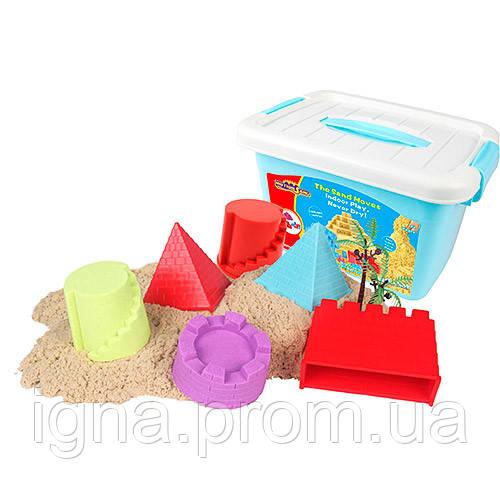 Песок для творчества MS-21A (6шт) 1000г, замок, формочки 10шт, в чемодане, 28-17,5-20см