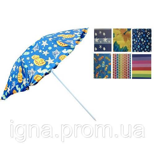 Зонт пляжний d2.2м срібло MH-1096 (12шт)