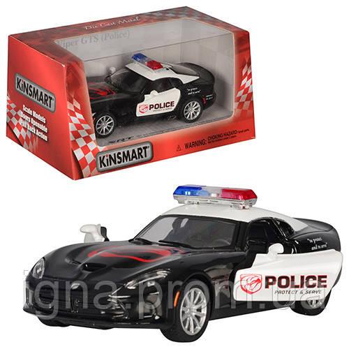 Машинка KT 5363 WP (24шт) металл,инер-я,полиция,12-6-4,5см,1:36,откр.дв,рез.колеса,в кор,16-7,5-8см