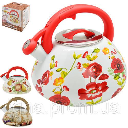 Чайник емаль зі свистком 3.0л MH-3594