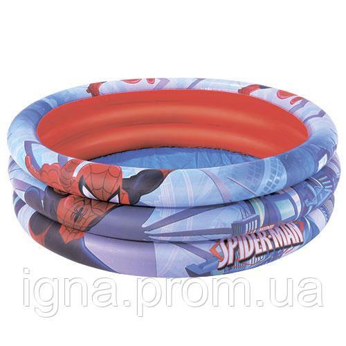 BW Бассейн 98018 (12шт) СП, детский, надувной, круглый, 122-30см,3 кольца, в кор-ке,