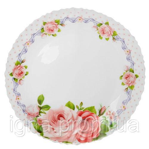 """Тарелка стеклокерамика 10.5"""" (25.8см) 6шт/наб """"Розарий"""" MS-2429-0786 (6наб)"""