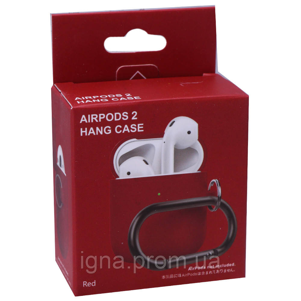Silicone Case with carbine for AirPods (Red)