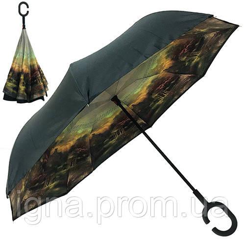 Зонт обратного сложения 110см 8сп MH-2713-18 (50шт)