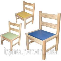 Стульчик детский 171886 для  дет сада-неразборный ольховый. Для младшей и средней группы дет сада ТМ Дерево