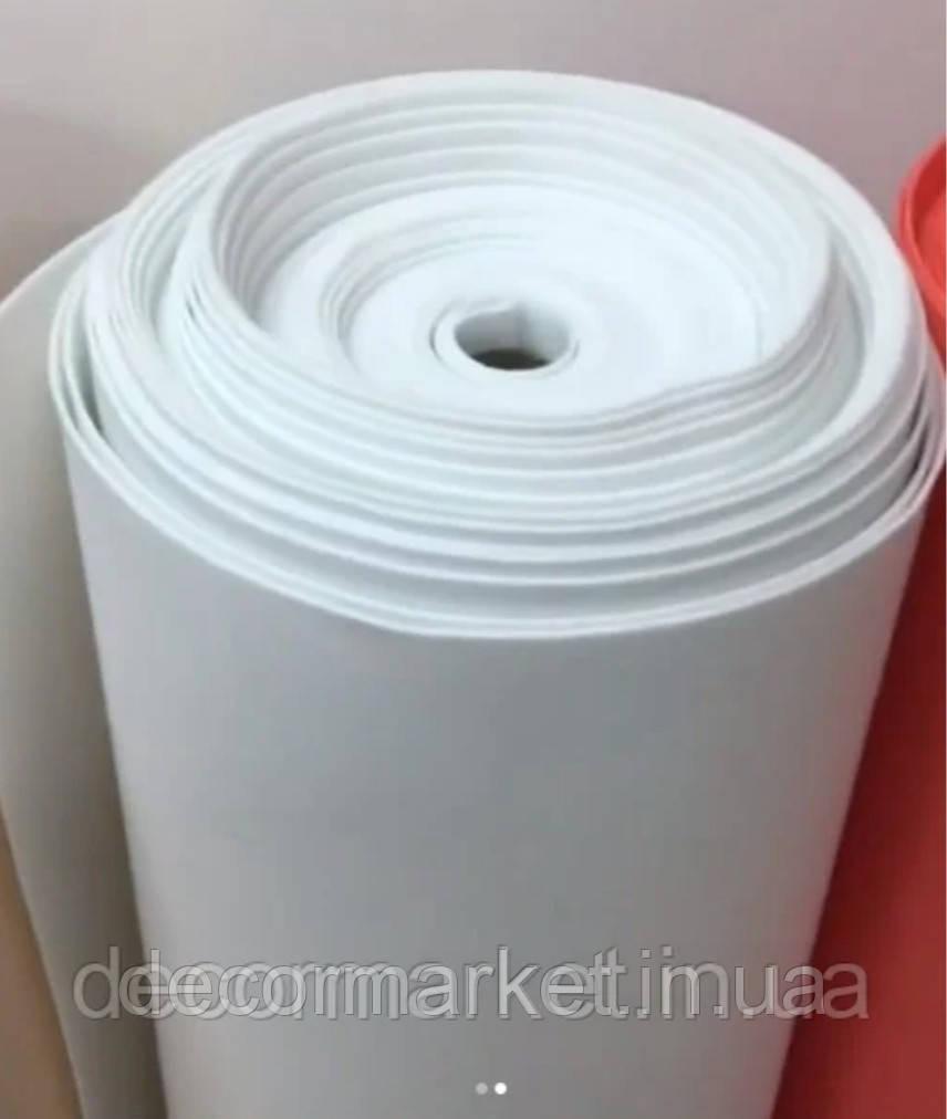 Фоамиран 1мм белый рулонный