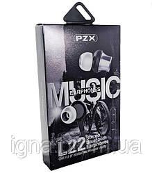 Навушники PZX L22 Black - Бездротові, Вакуумні, Кольорова коробка