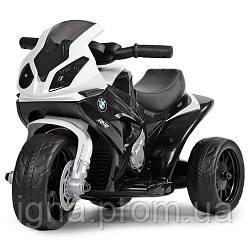 Мотоцикл JT5188L-2 (1шт) 1мотор6V,аккум6V4A,муз,кож.сид,д69-ш35-в44см,высота до сид.26см,черн-бел